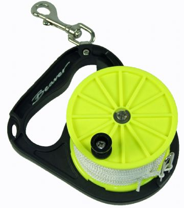 Beaver Sports - Divers Reel with 80M Line + Stainless Steel Bolt Snap